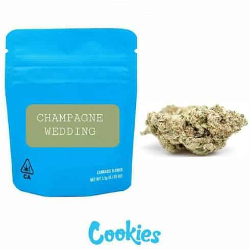 Champagne Wedding cookies